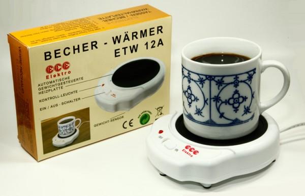 """Elektrischer Tassen-/Becher-Wärmer """"ETW 12 A"""" mit EIN-/AUS-Automatik"""